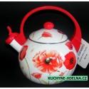 Edenberg Čajová konvice, smalt, indukce, vzor Poppies