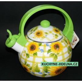 Edenberg Čajová konvice, smalt, indukce, vzor Sunflower