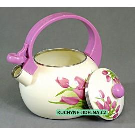 Edenberg Čajová konvice, smalt, indukce, vzor Tulip