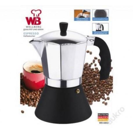 Espresso konvice, italský kávovar WELLBERG WB-6801