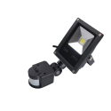 LED Reflektor Halogen 10W, 230V, s čidlem PIR, studená bílá