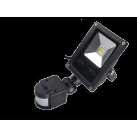 LED Reflektor Halogen 30W, 230V, s čidlem PIR, studená bílá