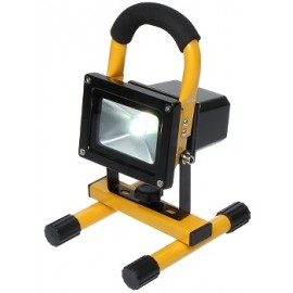 LED Reflektor AKU Halogen 10W, 12V/220V, studená bílá