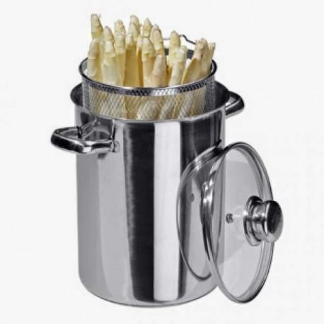 Nerezový hrnec na chřest, spageti, těstoviny, INDUKCE