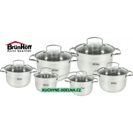 Brunhoff Sada hrnců nerez 12 ks BH-4161, indukce, TopQ