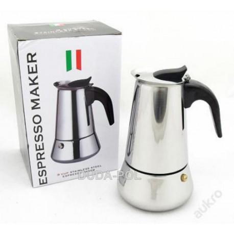 Espresso konvice, italský kávovar 450ml, 9 šálků