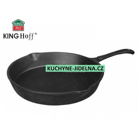 Litinová pánev kulatá 20 cm, KingHoff, INDUKCE