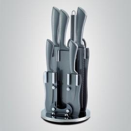 Royalty Line Sada nožů 8 ks RLKSS8-SIL, stone coating, GREY