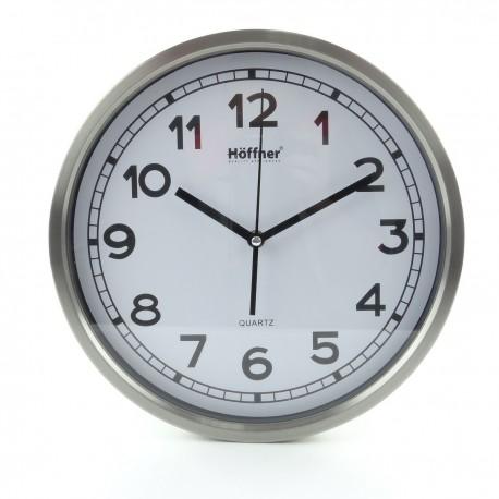 Nástěnné hodiny s teploměrem a vlhkoměrem, 25 cm, Hoffner