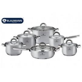 Blaumann Sada nádobí nerez 12 ks BL-3152, indukce