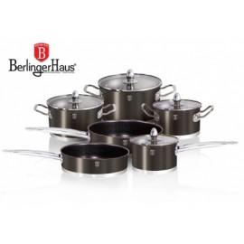 BerlingerHaus Sada nerezových hrnců 10 dílů BH-1322, carbon, INDUKC0