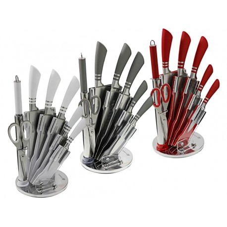Edenberg Sada nožů nerez 8 ks EB-908, otočný stojan, nerez