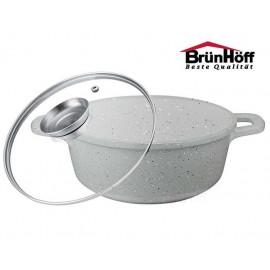 BrunHoff Hrnec 24 cm s granitovým povrchem BH-4645, aroma poklice, indukce