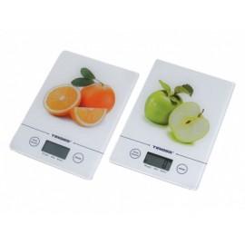 Tiross Elektronická kuchyňská váha SLIM TS-1301, 5kg, sklo, 3 barvy