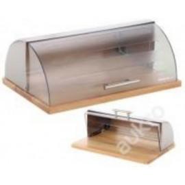 Edel Hoff Chlebník s dřevěnou podstavou EH-8500, nerez/plast