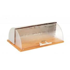 Chlebník s dřevěnou podstavou NEW Design