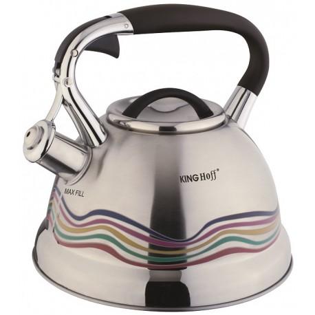 Čajník 2.7 litru, nerezový čajník, KingHoff, HOT effect