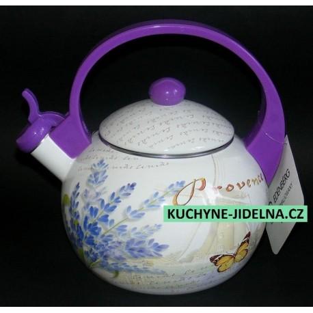 Čajník, čajová konvice Edenberg, smalt, INDUKCE - Provance