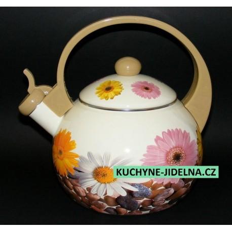 Čajník, čajová konvice Edenberg, smalt, INDUKCE - Gerbera