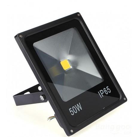LED Halogen 50W, reflektor, LED světlo, SLIM černá