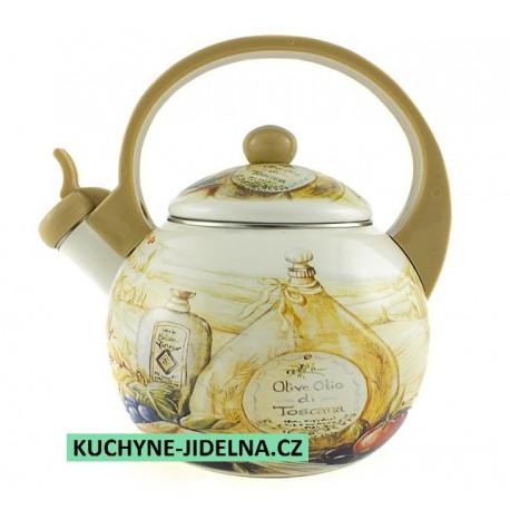 Čajník, čajová konvice Edenberg, smalt, INDUKCE - Toscania