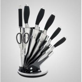 Edenberg Sada nožů nerez 8 ks EB-800, otočný stojan, nerez