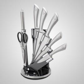 Zilner Sada nožů nerez 8 ks ZL-5113, otočný stojan, nerez