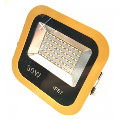 LED Halogen 30W, reflektor, LED světlo, SLIM černá