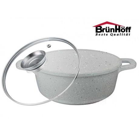 BrunHoff Hrnec 28cm s granitovým povrchem BH-4645, aroma poklice, indukce