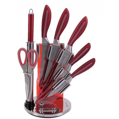 Edenberg Sada nožů nerez 8 ks EB-901, otočný stojan, nerez