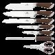 BerlingersHaus Nože sada 8-mi dílná BH-2047, nerez