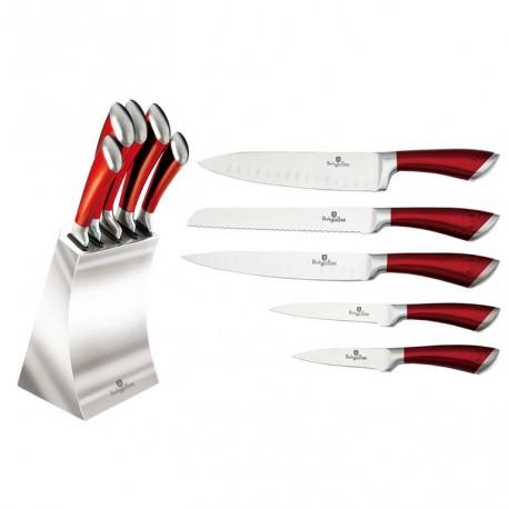 Berlingerhaus Sada nožů v bloku 6 ks BH-2135, červená