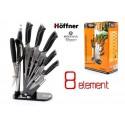 Hoffner Sada kuchyňských nožů 8ks HF-6879, ocel, stojan