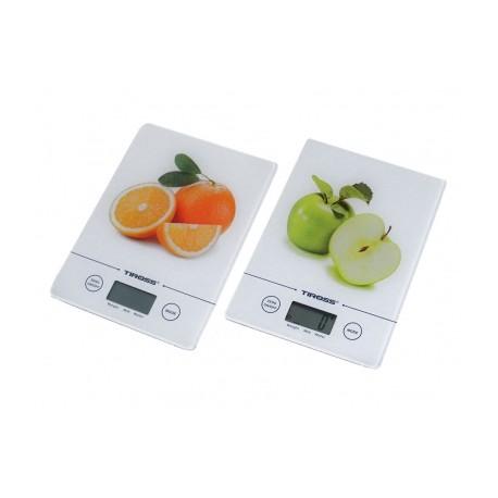Elektronická kuchyňská váha SLIM, 5kg, sklo, 3 barvy