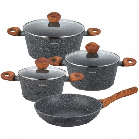 LeIntegrali Sada hrnců titan 24 ks LI24, pánev teflon, titanové nádobí, indukce