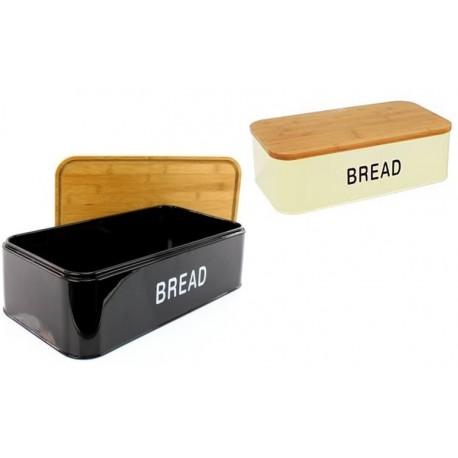 Chlebník z nerezovým korpusem a bambusovým víkem