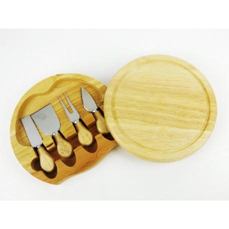 Bambusové prkénko na sýr + nůž