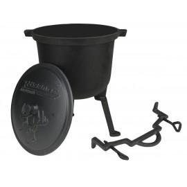 Rossler Myslivecký kotlík 11 litrů 1236, poklice, litina