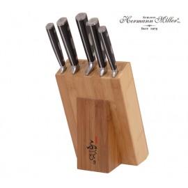 Hermann Miller Sada ocelových nožů 6 ks HM-6322, nerez