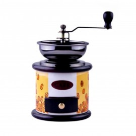 KingHoff Mlýnek na kávu KH-4144, keramika/dřevo/kov