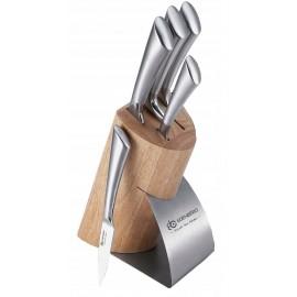 Edenebrg Sada nožů nerez 6 ks EB-938, dřevěný stojan
