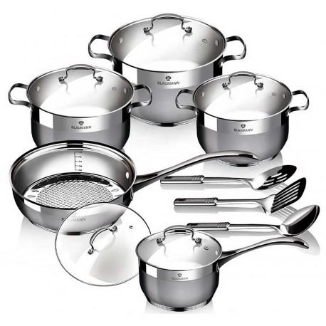 Blaumann Sada nádobí nerez satin 13 ks Gourmet Line BL-3196