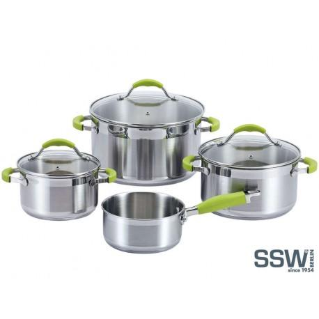 SSW Germany Sada hrnců nerez 7 ks 400078 Green Apple, indukce