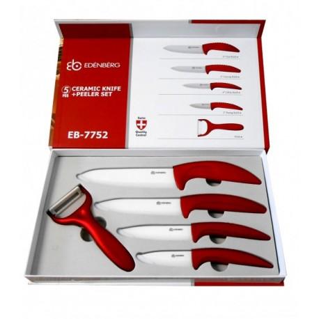 5-ti dílná sada keramických nožů Edenberg, 3 BARVY
