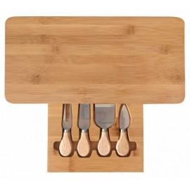 KingHoff Set na krájení sýrů 5 ks KH-1567, kaučukové dřevo