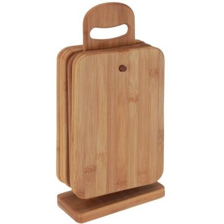 Excellent Houseware Set krájecích prkýnek 7ks 20457, kaučukové dřevo
