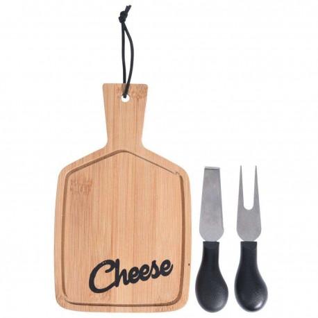 Excellent Houseware Set na krájení sýrů 3 ks 121210, kaučukové dřevo